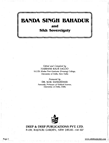 Banda Singh Bahadur and Sikh Sovereignty