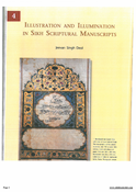 Illustration And IlluminationIn Sikh Scriptural Manuscripts