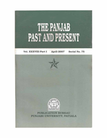 The Punjab Past and Present Vol XXXVIII Part I
