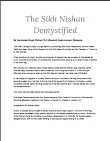 The Sikh Nishan Demystified By Karminder Singh Dhillon