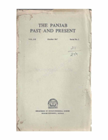 The Punjab Past and Present Vol I Part II