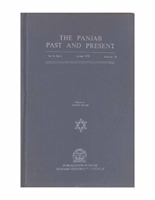The Punjab Past and Present Vol IX Part