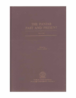 The Punjab Past and Present Vol VI Part I