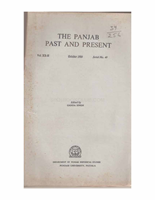 The Punjab Past and Present Vol XX Part II
