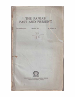 The Punjab Past and Present Vol XXV Part II