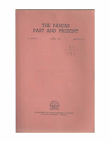 The Punjab Past and Present Vol XXVI Part I