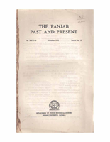 The Punjab Past and Present Vol XXVI Part II
