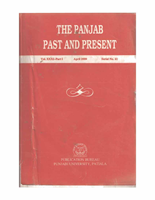 The Punjab Past and Present Vol XXXI Part I