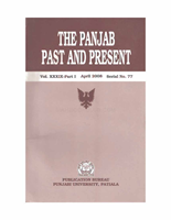The Punjab Past and Present Vol XXXIX Part 1