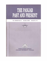 The Punjab Past and Present Vol XXXIX Part II