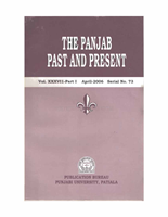 The Punjab Past and Present Vol XXXVII Part I English