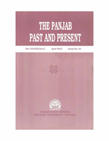 The Punjab Past and Present Vol XXXXIII Part I