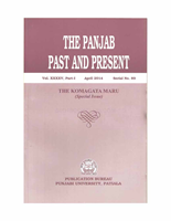 The Punjab Past and Present Vol XXXXV Part I