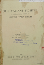 The Valiant Fighter Master Tara Singh