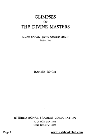 Glimpses of the Divine Masters