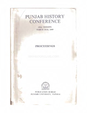Punjab History Conference Session 41